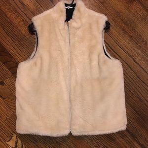 J.Crew reversible faux fur vest